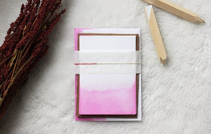 Dip dyed stationary