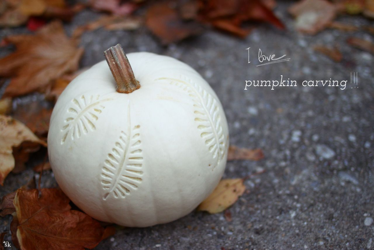 Elegant carving pumpking design
