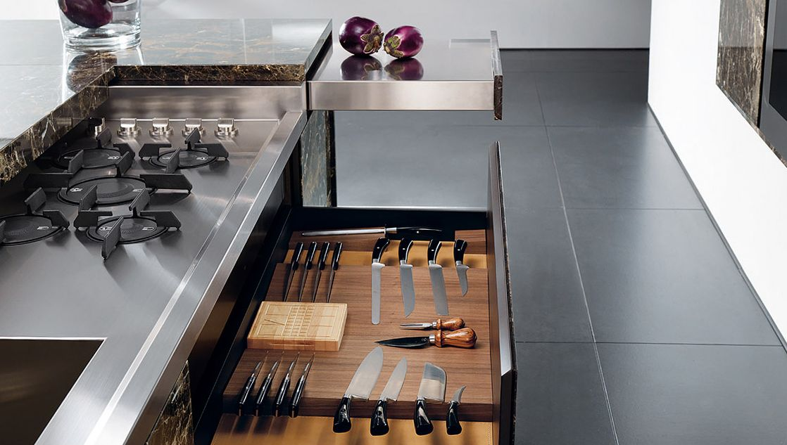 Essential Kitchen from Toncelli Drawers