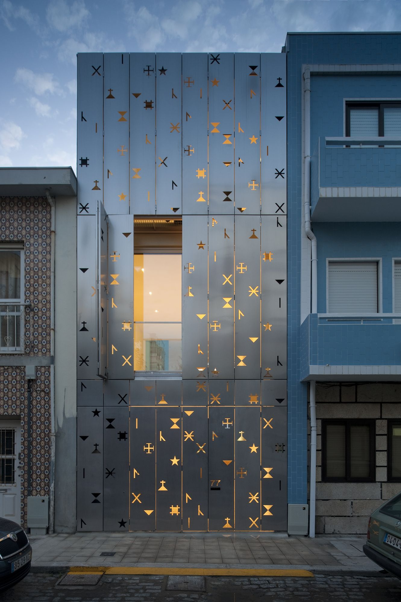 Eye-catching Perforated Facade Window