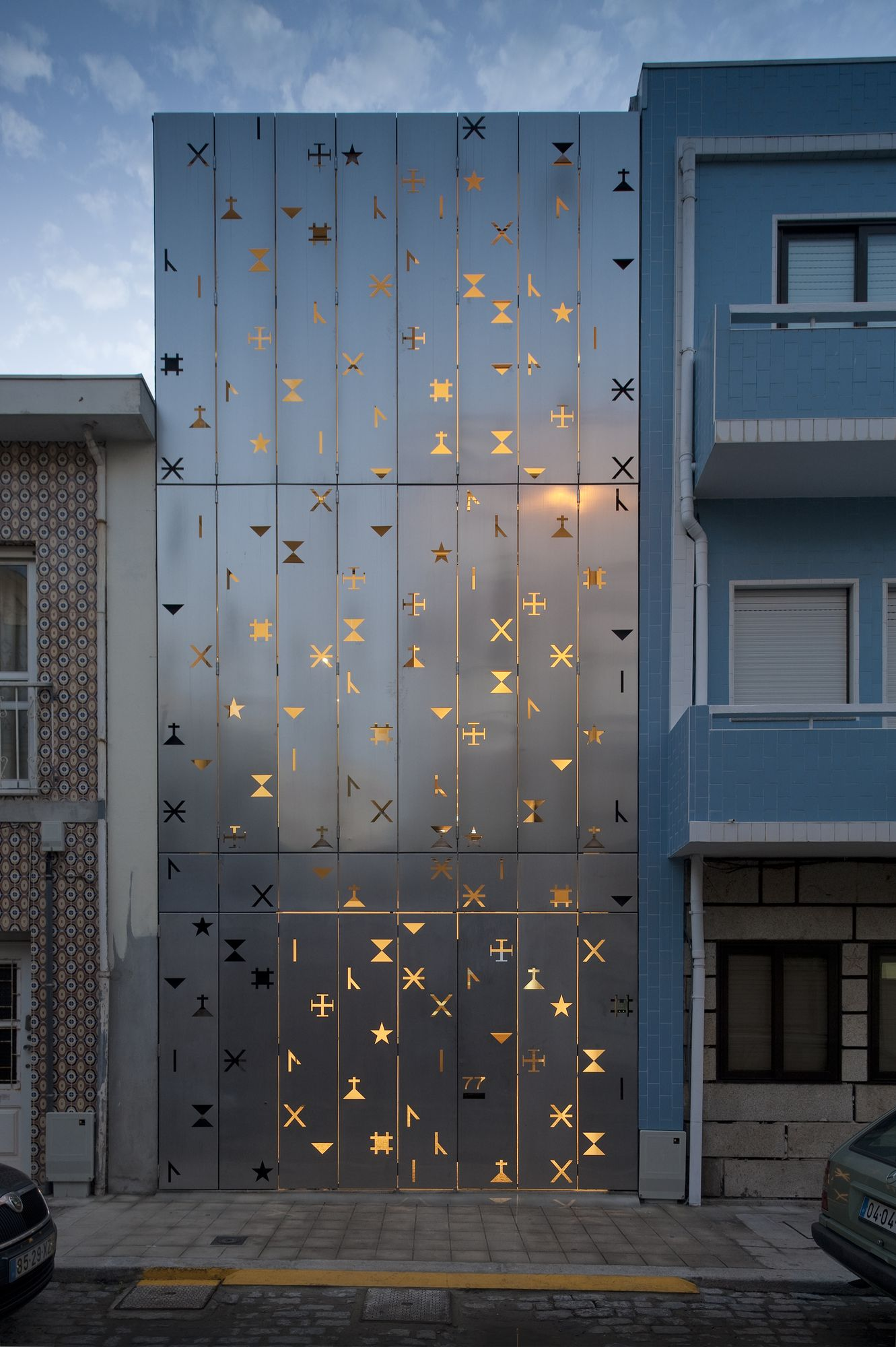 Eye catching perforated facade