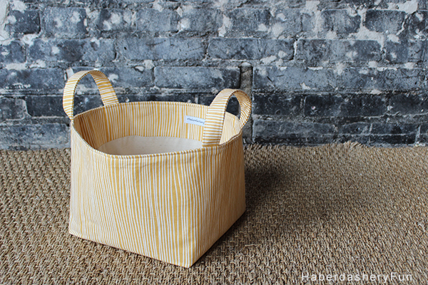 Fabric bin with handles