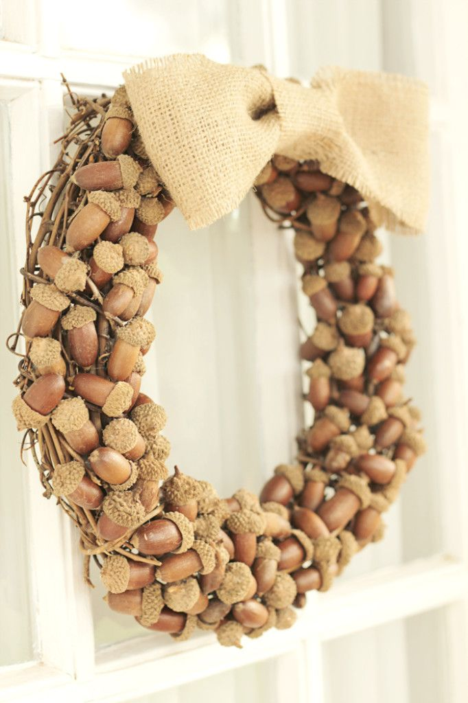 Fall Acorn Wreath DIY