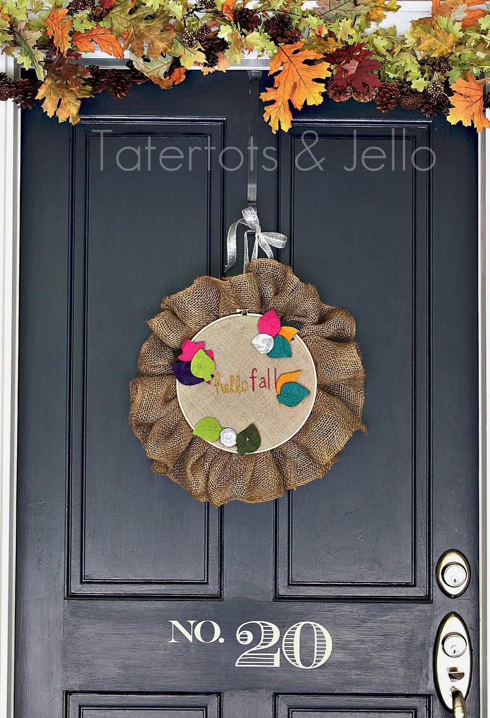 Fall Embroidery Hoop Door Hanging