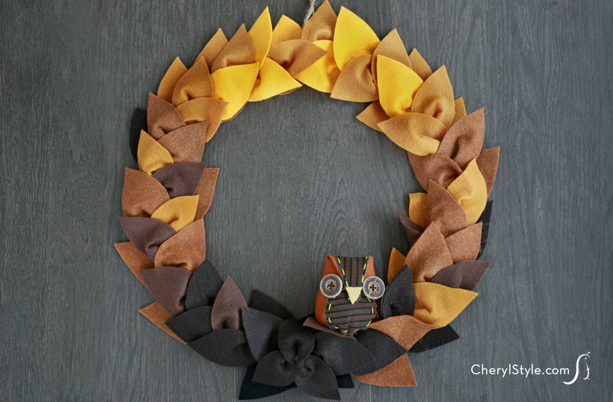 Fall colors for a felt wreath