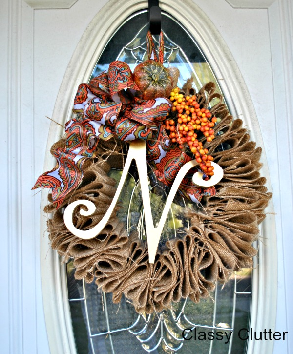 Fall ruffles Wreath