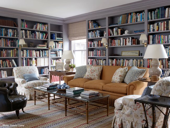 Family room with library