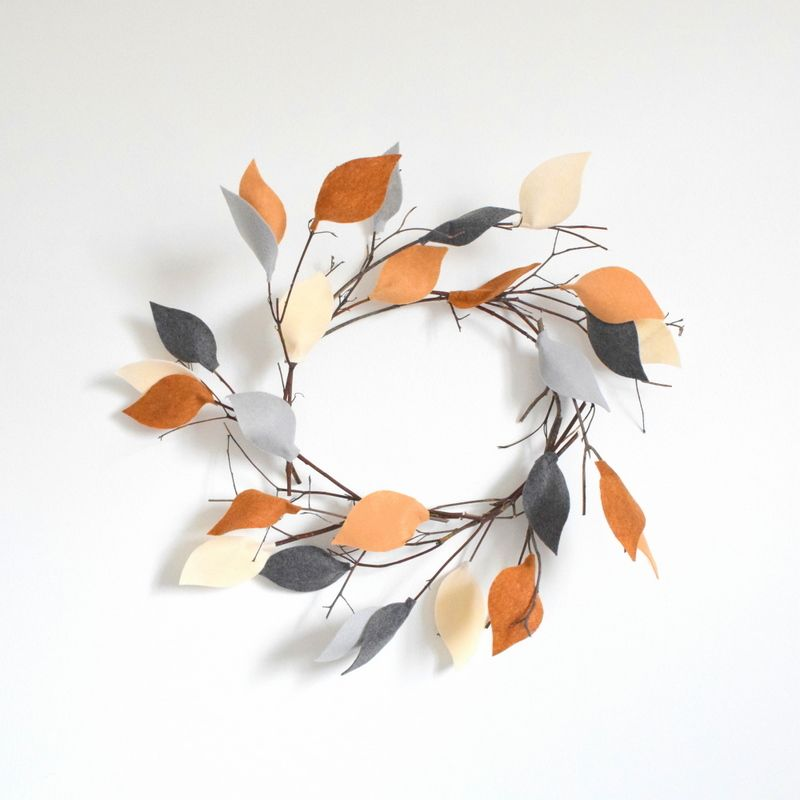 Felt and Twigs Wreath