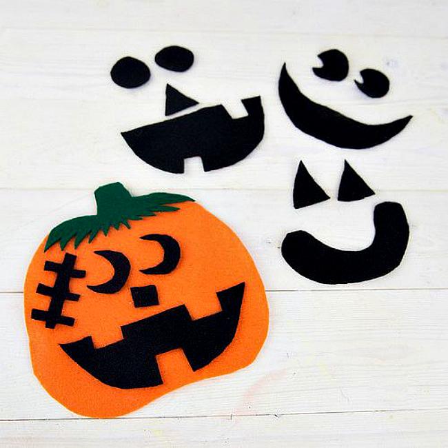 Felt pumpkin craft
