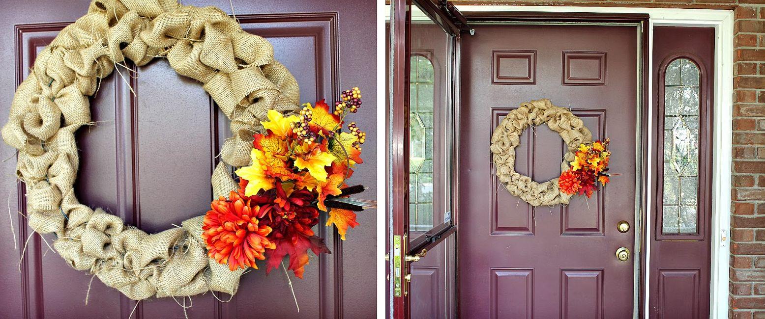 Feminine burlap wreath