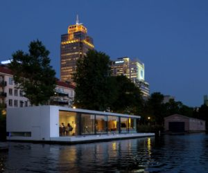 A Floating Home In Amsterdam Deals With Flooded Land In Style