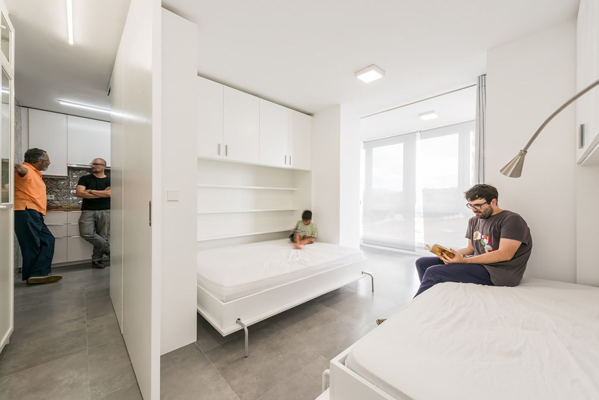 Fold down beds when the space is limited