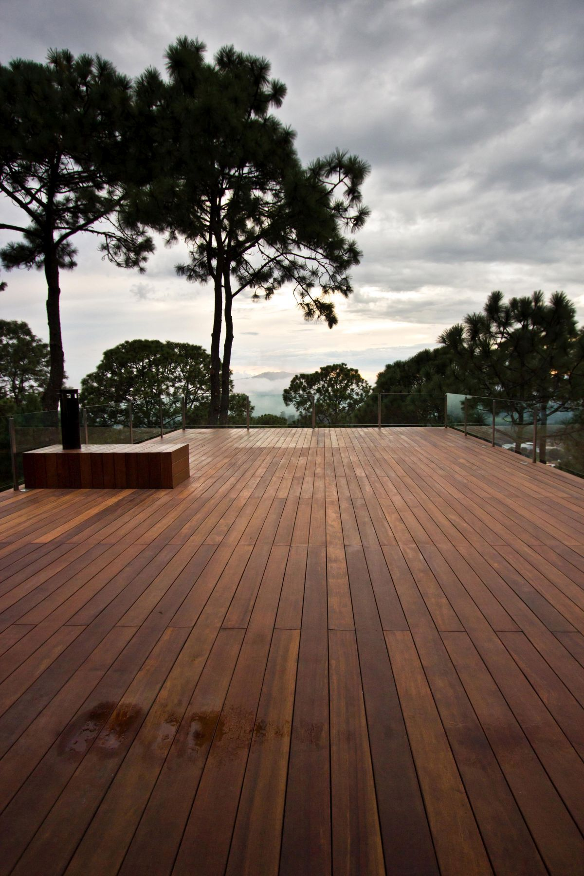 Forest House in Mexic Deck View