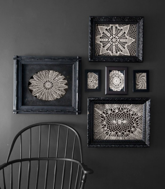 Framed doily gallery