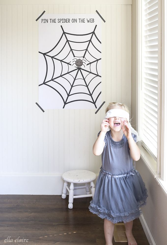 Funny spider web for kids