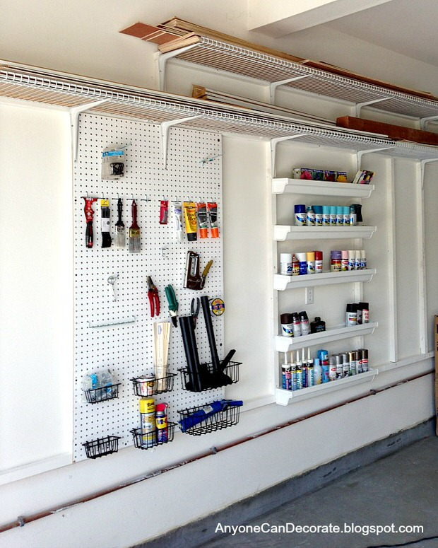 Incroyable Garage Storage System With Pegboards