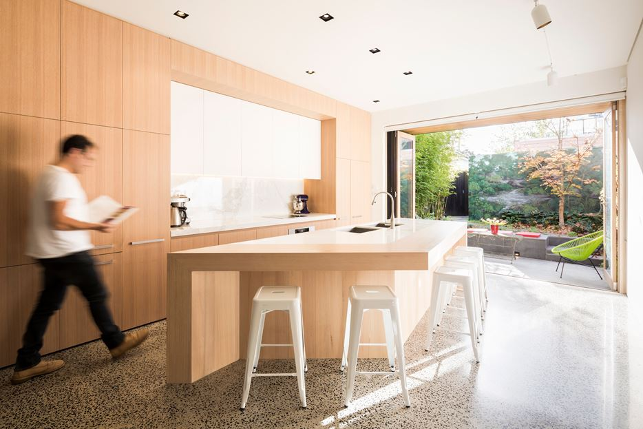 Geometric kitchen island design