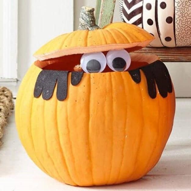 Go For a Peek a Boo Pumpkin