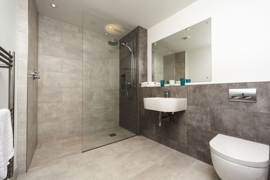 Grey Bathroom Shower Design View In Gallery