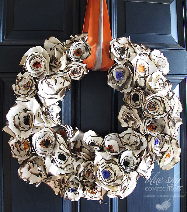 Halloween Paper Wreath DIY