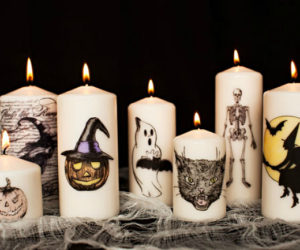 10 DIYs for the Creepiest Halloween Candles