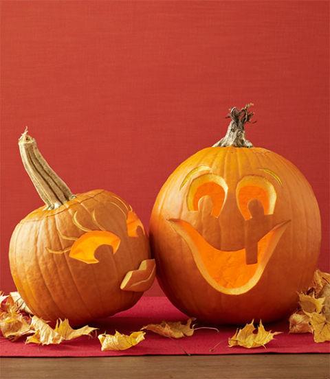 Halloween pumpkin scene