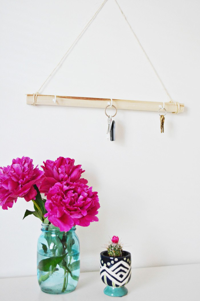 Hanging Wood Key Holder