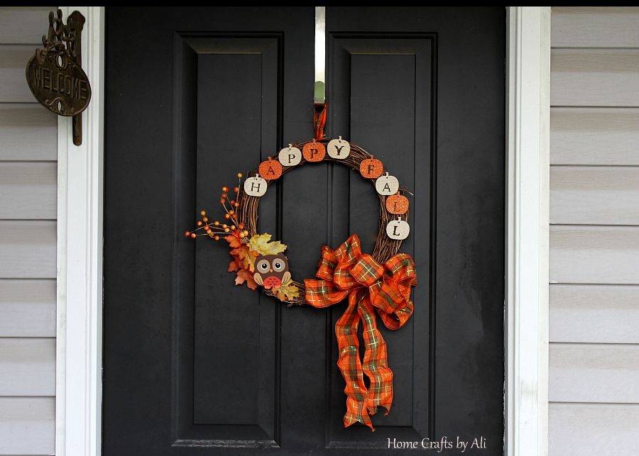Happy Fall Wreath Letters