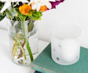 DIY Etched Glass Vase
