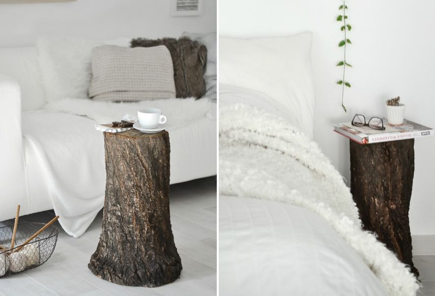 Fall Decor: How To Style A Tree Trunk At Home