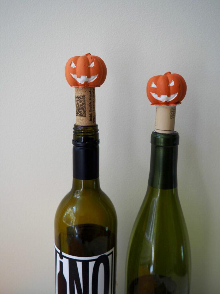 Jack O'Lantern Wine Stopper DIY Project for Halloween