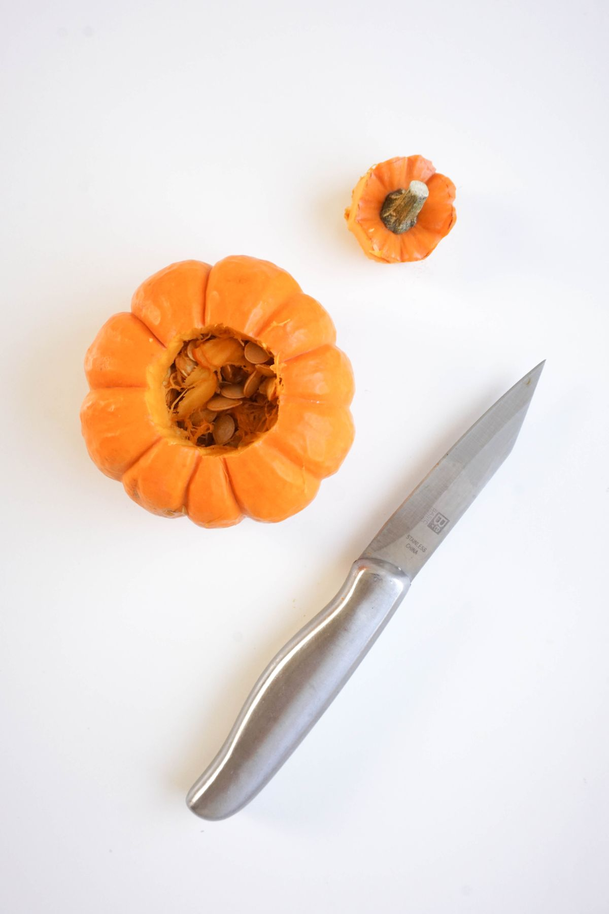 Jewel Tone Pumpkin Votives Cut with a Knife