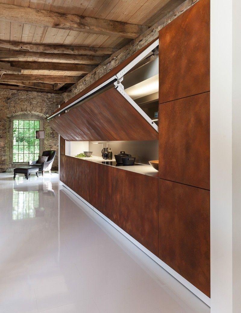 Kitchen designed to be hidden folding