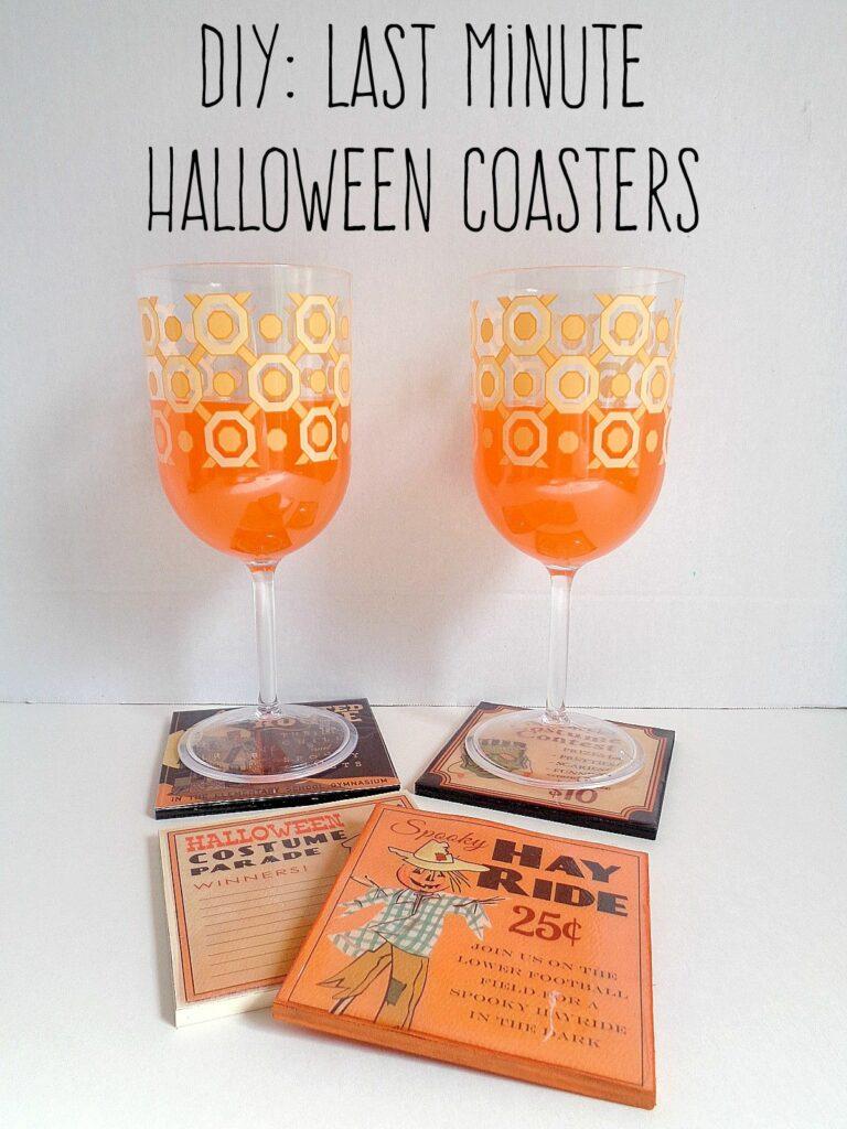 Last Minute Halloween Coasters