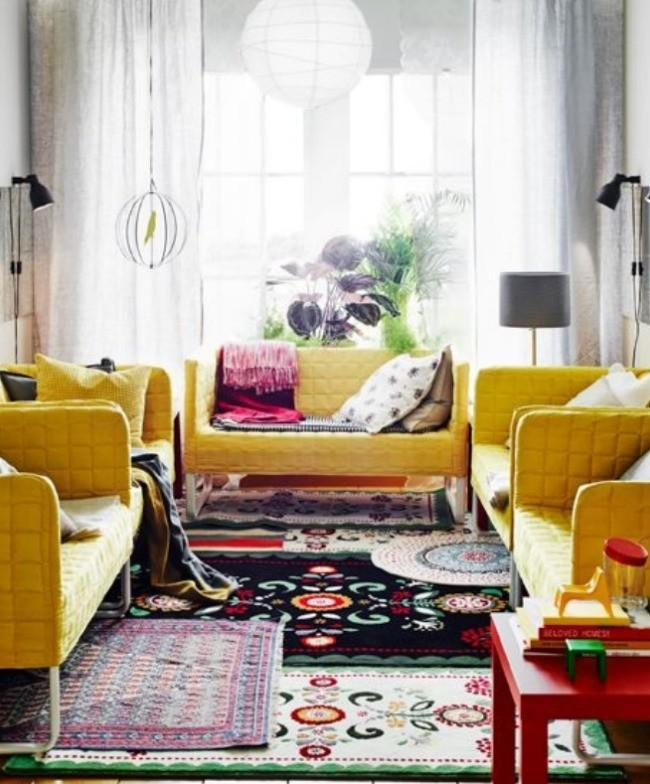 Perfect Layering Numerous Small Rugs Nice Design