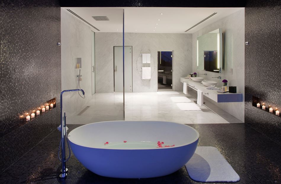 Luxurious bathroom design with separated area