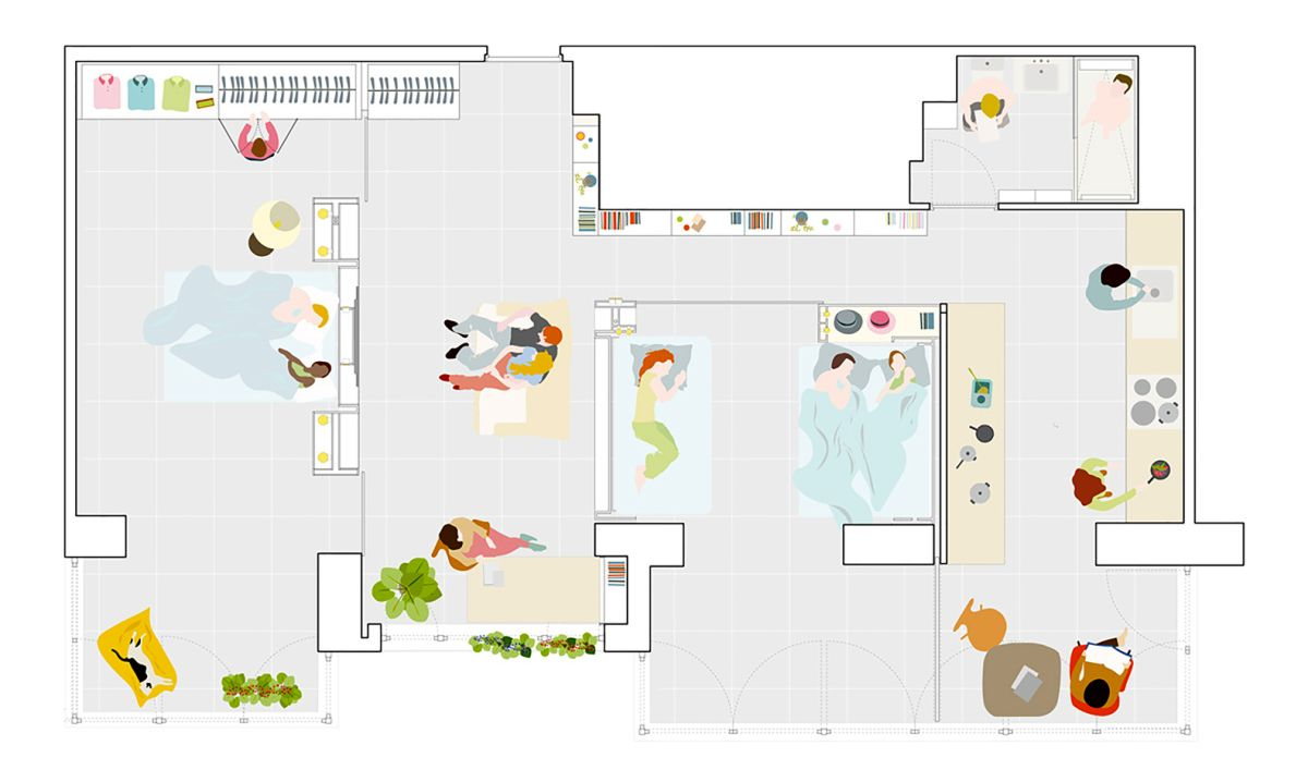 MJE House in spain three layout possibilities