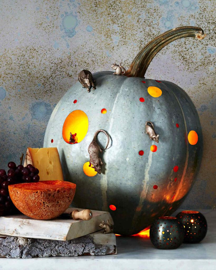 Make a Mice Infested Pumpkin