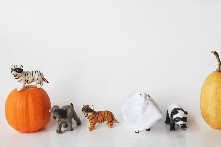 Masked toy animals