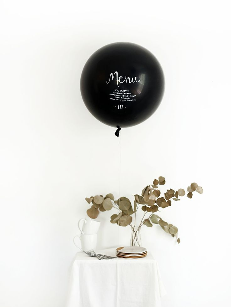 Menu balloon