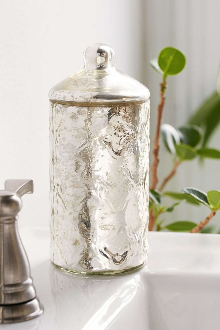 Mercury glass canister