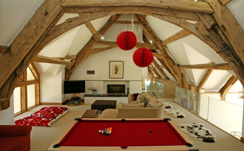 Mill attic room designed for fun