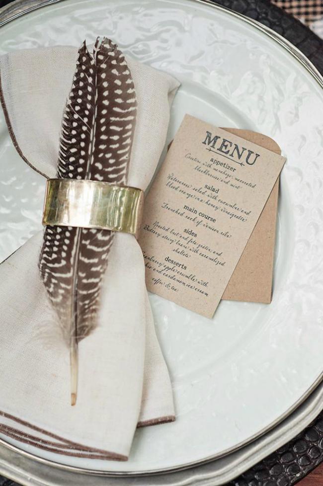 Mini brown paper menu