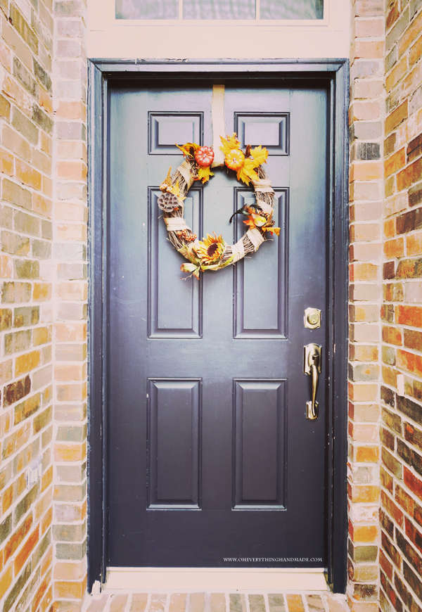 Mix fall accessories to create a stylish Wreath