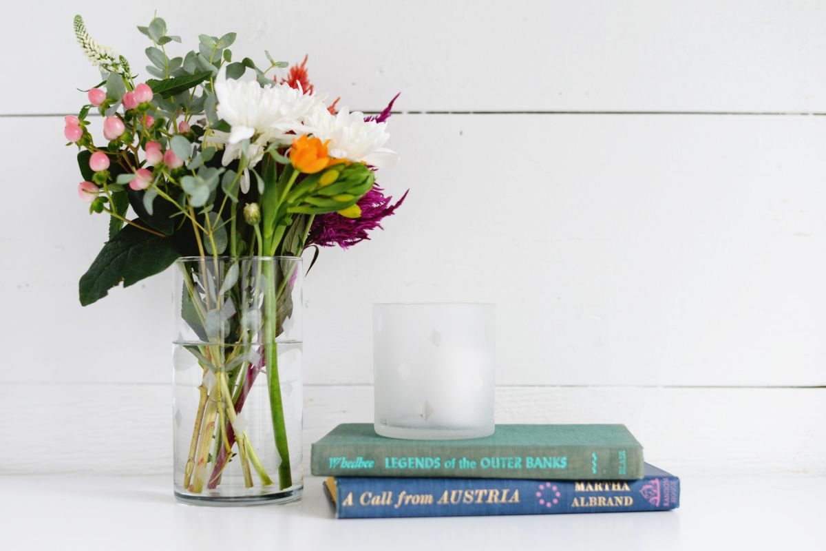 Modern DIY Etched Glass Vase