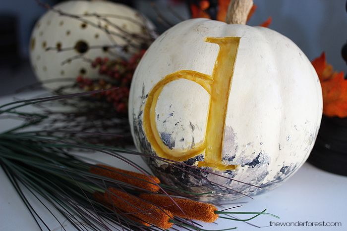Monogram carving Pumpkin for Halloween