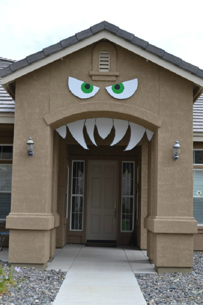 Monster arch front porch