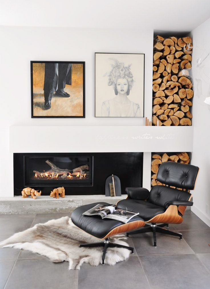 More than just iconic, the Eames Lounge is extremely comfortable.