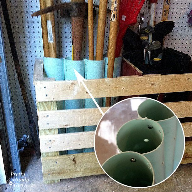 PVC Garden tools storage
