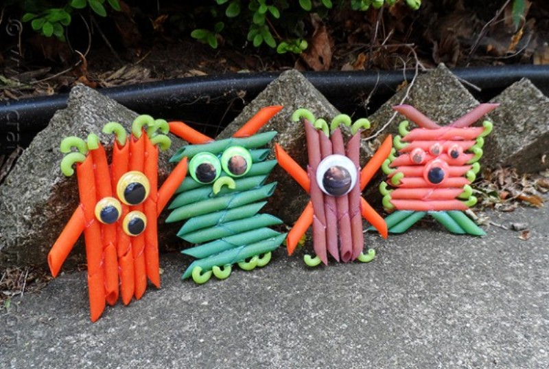 Pasta monsters craft